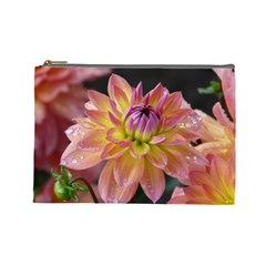 Dahlia Garden  Cosmetic Bag (Large)