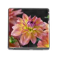 Dahlia Garden  Memory Card Reader with Storage (Square)