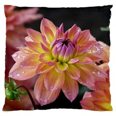 Dahlia Garden  Large Cushion Case (Two Sides)