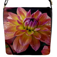 Dahlia Garden  Flap Closure Messenger Bag (small)