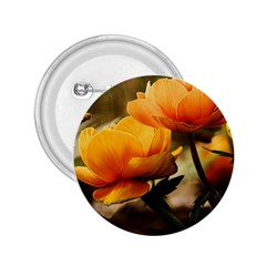 Flowers Butterfly 2.25  Button