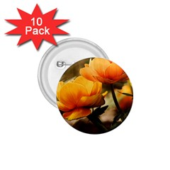 Flowers Butterfly 1.75  Button (10 pack)