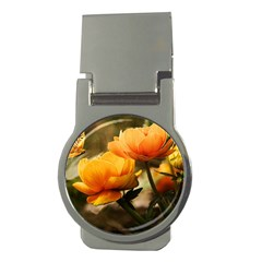 Flowers Butterfly Money Clip (round)