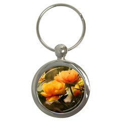 Flowers Butterfly Key Chain (round)