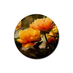 Flowers Butterfly Drink Coaster (Round)
