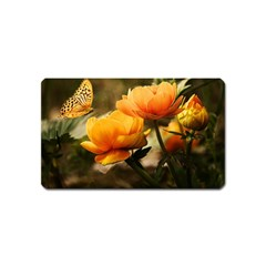 Flowers Butterfly Magnet (name Card)