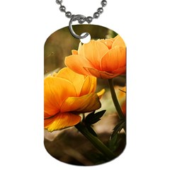 Flowers Butterfly Dog Tag (One Sided)