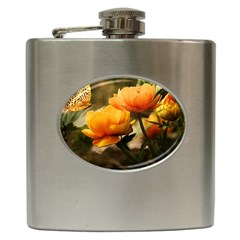 Flowers Butterfly Hip Flask