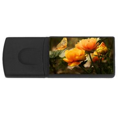 Flowers Butterfly 2GB USB Flash Drive (Rectangle)