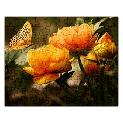 Flowers Butterfly Jigsaw Puzzle (Rectangle)