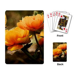 Flowers Butterfly Playing Cards Single Design