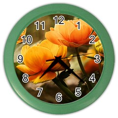 Flowers Butterfly Wall Clock (Color)