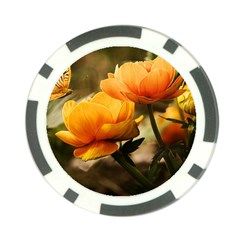 Flowers Butterfly Poker Chip
