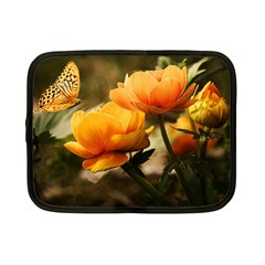 Flowers Butterfly Netbook Case (small)