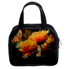Flowers Butterfly Classic Handbag (Two Sides)