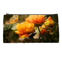 Flowers Butterfly Pencil Case