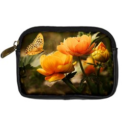 Flowers Butterfly Digital Camera Leather Case