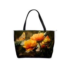 Flowers Butterfly Large Shoulder Bag