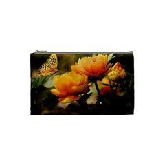 Flowers Butterfly Cosmetic Bag (small)
