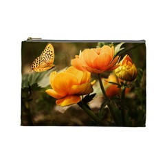 Flowers Butterfly Cosmetic Bag (Large)