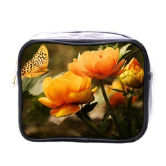 Flowers Butterfly Mini Travel Toiletry Bag (One Side)