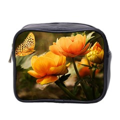 Flowers Butterfly Mini Travel Toiletry Bag (Two Sides)