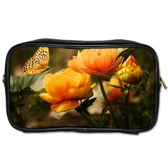 Flowers Butterfly Travel Toiletry Bag (two Sides)