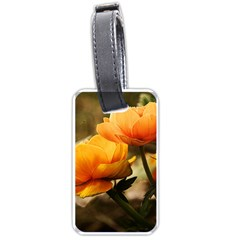 Flowers Butterfly Luggage Tag (two Sides)
