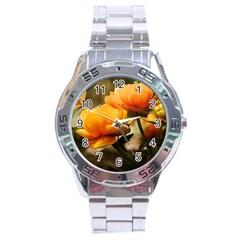 Flowers Butterfly Stainless Steel Watch (Men s)