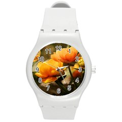 Flowers Butterfly Plastic Sport Watch (medium)