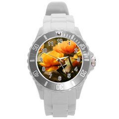 Flowers Butterfly Plastic Sport Watch (Large)