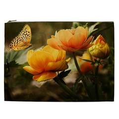 Flowers Butterfly Cosmetic Bag (XXL)