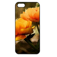 Flowers Butterfly Apple Iphone 5 Seamless Case (black)
