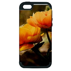 Flowers Butterfly Apple Iphone 5 Hardshell Case (pc+silicone)
