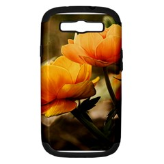 Flowers Butterfly Samsung Galaxy S Iii Hardshell Case (pc+silicone)