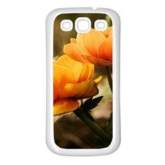 Flowers Butterfly Samsung Galaxy S3 Back Case (White)