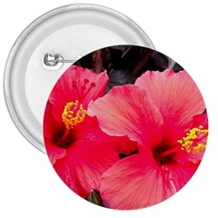 Red Hibiscus 3  Button
