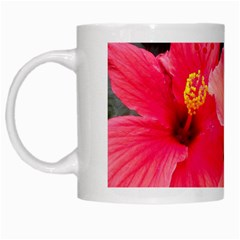 Red Hibiscus White Coffee Mug