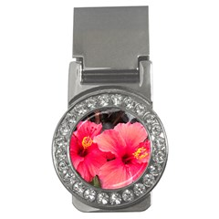 Red Hibiscus Money Clip (CZ)