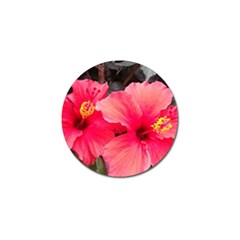 Red Hibiscus Golf Ball Marker 4 Pack