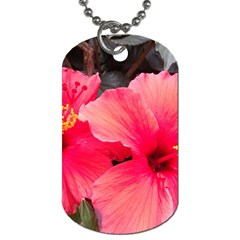 Red Hibiscus Dog Tag (Two Sided)