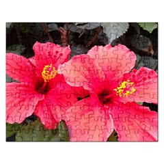 Red Hibiscus Jigsaw Puzzle (Rectangle)