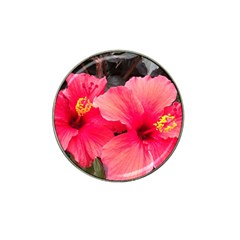Red Hibiscus Golf Ball Marker 10 Pack (for Hat Clip)
