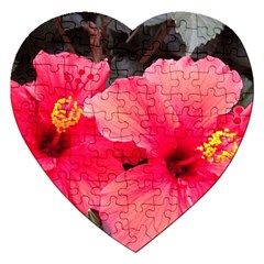 Red Hibiscus Jigsaw Puzzle (Heart)