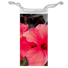 Red Hibiscus Jewelry Bag