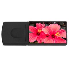 Red Hibiscus 4GB USB Flash Drive (Rectangle)
