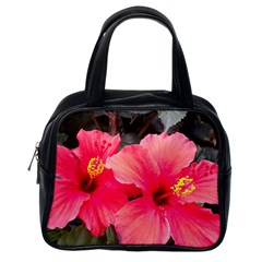 Red Hibiscus Classic Handbag (One Side)