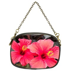 Red Hibiscus Chain Purse (two Side)