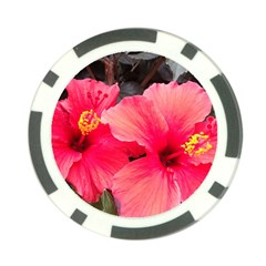 Red Hibiscus Poker Chip 10 Pack