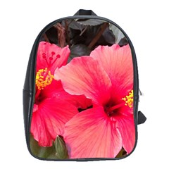 Red Hibiscus School Bag (Large)